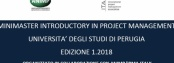 11-12 ottobre 2018 - stabilita la data del MINIMASTER INTRODUCTORY IN PROJECT MANAGEMENT