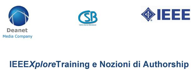 IEEEXploreTraining e Nozioni di Authorship - 6/11/2018